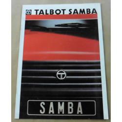 catalogue de présentation Samba1986