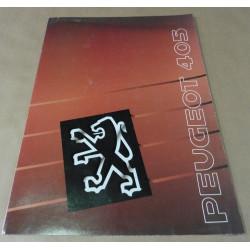 catalogue de présentation 405 1990