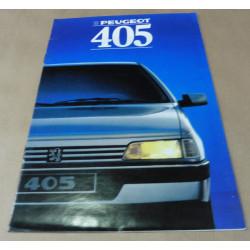 catalogue de présentation 405 1988