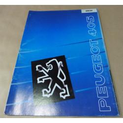 catalogue de présentation 405 Break 1990