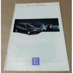 catalogue de présentation 405 Break 1993