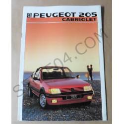 catalogue de présentation 205 Cabriolet 1986