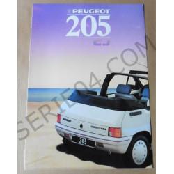 catalogue de présentation 205 Cabriolet 1988
