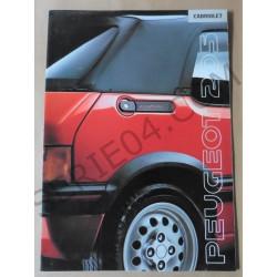 catalogue de présentation 205 Cabriolet 1990