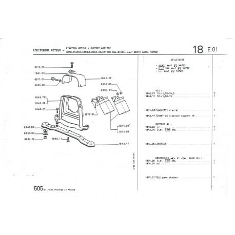 silentblock gearbox support