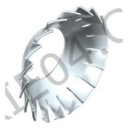 Rondelle évantail conique 90° Ø8