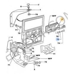 mécanisme de commande de porte latérale