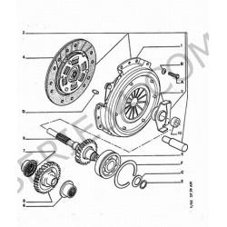 clutch disc, standard exchange, sold to model