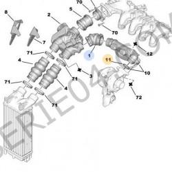 joint torique de raccord d'air de turbo