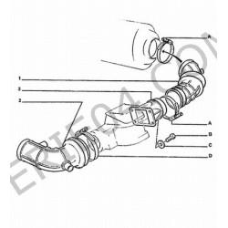 intake filter air hose
