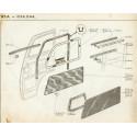 D3A-D4A-D4B Coulisse de vitre - Garniture de porte