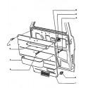 J5 Coulisse de vitre - Garniture de porte