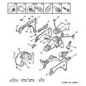 106 Armature - doublure d'aile avant - auvent - tablier