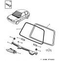 106 windshield - sun visor - mirror