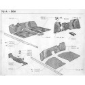 204-304 alfombra - trim mástil - número de placa