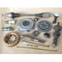 Clutch - Gearbox - rear axle - gimbal
