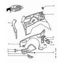 605 Armature - Doublure d'aile avant - Auvent - Tablier