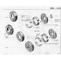 404 Brake Drum - Brake Shoes - Spring