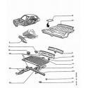807-C8 Plancher avant - Bloc arrière